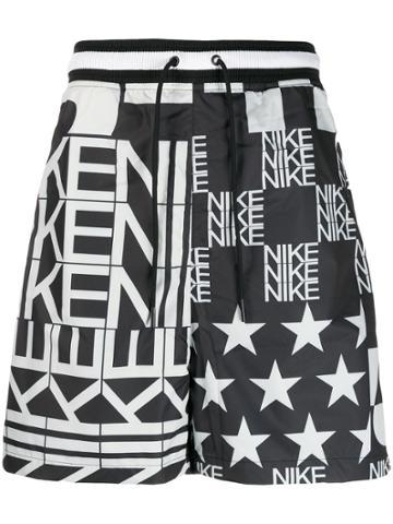 Nike Logo Pattern Shorts - Black