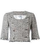 Chanel Vintage Houndstooth Cropped Jacket