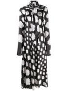 Marni Graphic Print Midi Dress - White