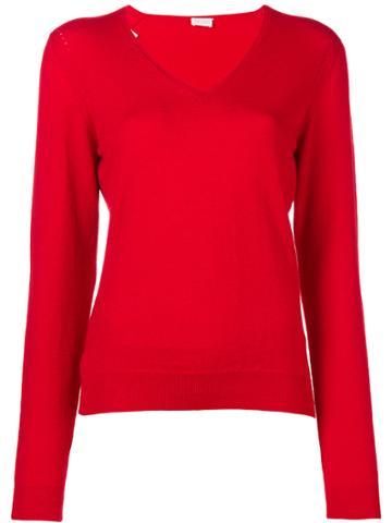 Valentino Vintage V-neck Jumper - Red