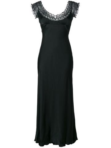 Prada Vintage Lace Panel Dress - Black