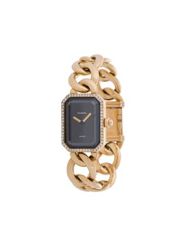 Chanel Pre-owned Rectangular Face Chain Watch - Metallic