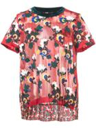 Sacai Embroidered Floral T-shirt