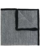 Etro Contrast Edge Pocket Square - Grey