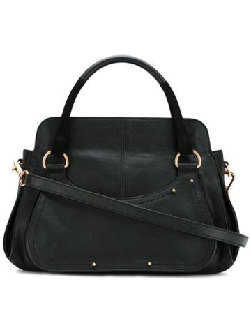 See By Chloé Miya Shoulder Bag, Women's, Black, Cotton/leather
