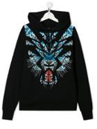 Marcelo Burlon County Of Milan Kids Teen Leopard Print Hoodie - Black