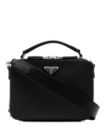 Prada Black Brique Saffiano Leather Bag