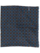 Altea Floral Patterned Fine Knit Scarf - Blue