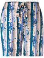 La Perla Floral Print Shorts - Nude & Neutrals