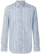Canali Floral Print Shirt - Blue