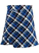 Pinko Checked Mini Skirt - Blue