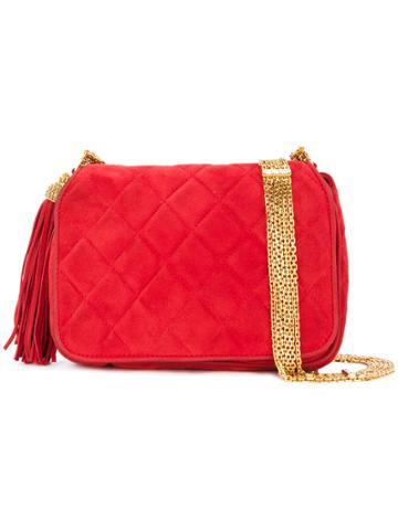 Chanel Vintage Tassel Detail Shoulder Bag - Red