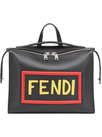Fendi Logo Messenger Bag - Black