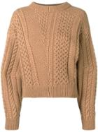 Stella Mccartney Cable Knit Sweater - Brown