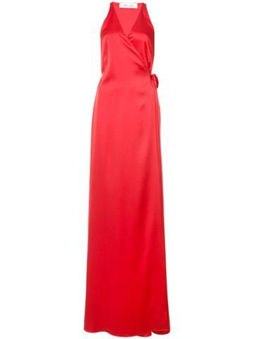 Dvf Diane Von Furstenberg Wrap Front Maxi Dress - Red