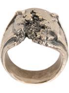 Tobias Wistisen Destroyed Ring, Adult Unisex, Size: 64, Metallic