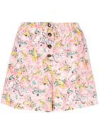 Chanel Vintage Cc Short Pants - Pink