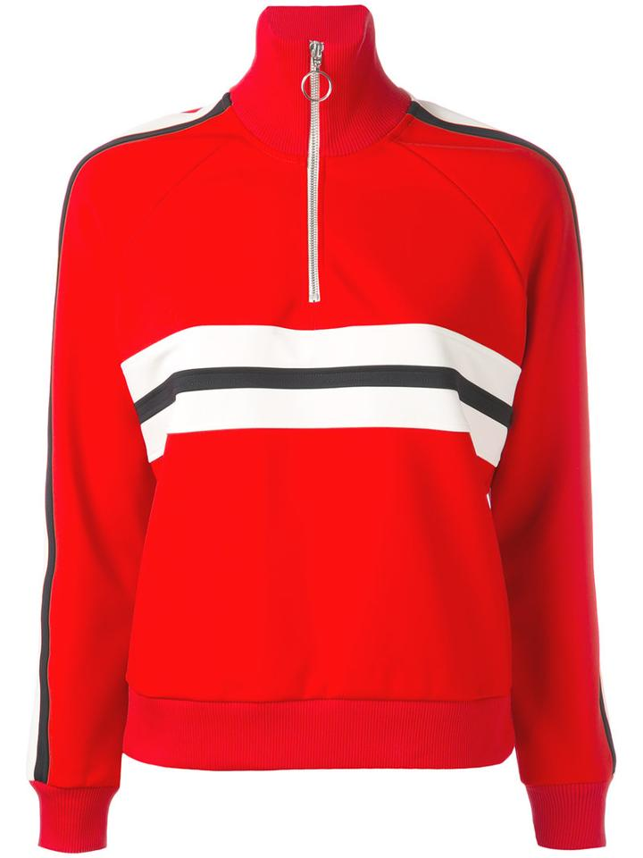 Sidoni Zipped Neck Sweatshirt - Women - Polyamide/spandex/elastane - S, Red, Polyamide/spandex/elastane, Harmony Paris