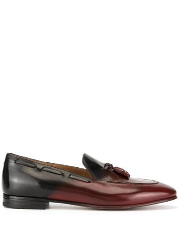 Francesco Russo Ombre Tassel Detail Loafers - Red