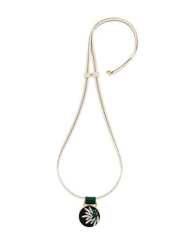 Marni Strass Pendant Necklace, Women's, White