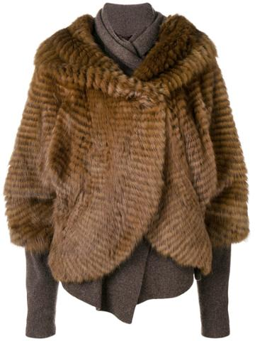Liska Sable And Cashmere Jacket - Brown
