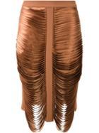 Dion Lee Bias Stack Skirt