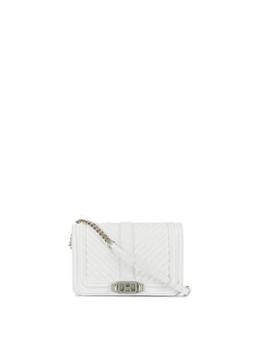 Rebecca Minkoff Small Love Quilted Crossbody Bag - White