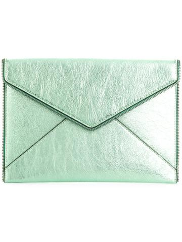 Rebecca Minkoff Envelope Shaped Clutch - Green