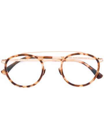 Mykita - Lite Ollie Glasses - Unisex - Acetate/stainless Steel - 47, Brown, Acetate/stainless Steel