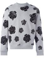 Kenzo Tiger Pattern Sweatshirt, Men's, Size: Xs, Grey, Cotton