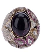 Athena Pink Sapphire And Diamond Robeline Ball Ring - Pink & Purple
