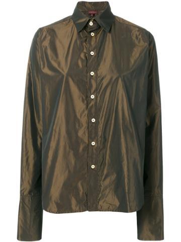 Romeo Gigli Vintage Iridescent Classic Shirt - Brown