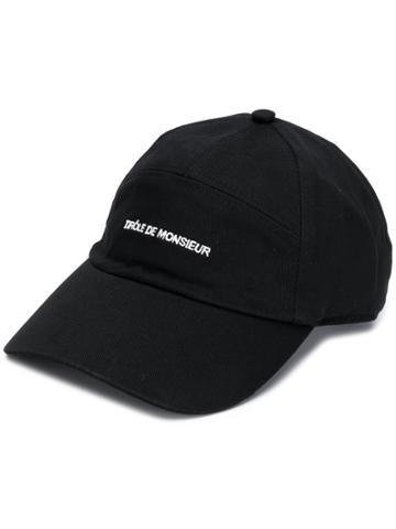 Drôle De Monsieur Panelled Logo Cap - Black