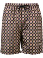 Burberry Archive Logo And Vintage Check Swim Shorts - Blue
