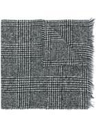 Destin Unice Check Knit Scarf - Black