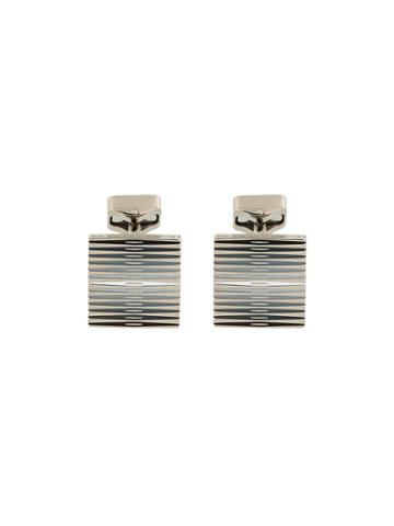Tateossian Striped Cufflink - Grey