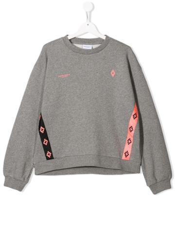 Marcelo Burlon County Of Milan Kids Teen Ribbon Sweatshirt - Grey