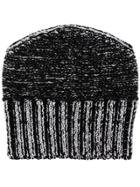 Mm6 Maison Margiela Metallic-effect Beanie Hat - Grey