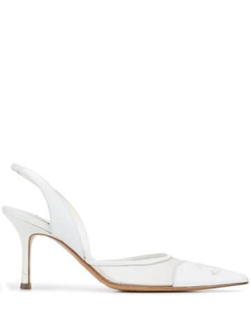 Chanel Pre-owned 2000's Slingback Pumps - White