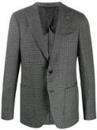 Lardini Textured Houndstooth Blazer - Black
