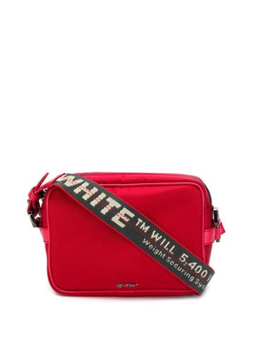 Off-white Industrial Strap Cross-body Bag - Red