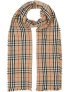 Burberry Vintage Check Lightweight Cashmere Scarf - Neutrals