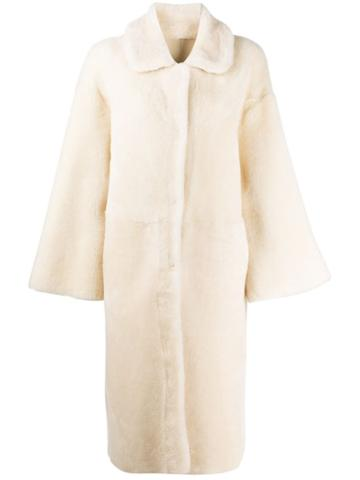 Liska Shearling Coat - White