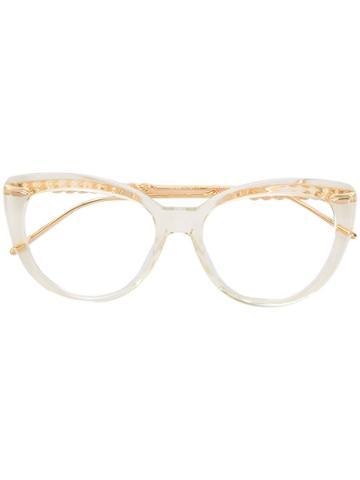 Boucheron Cat Eye Glasses - Metallic