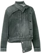 Balenciaga Pulled Denim Jacket - Black
