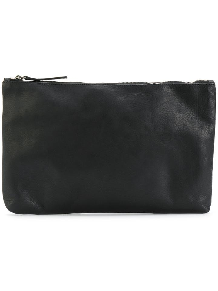 Ann Demeulemeester - Alana Pouch - Unisex - Leather - One Size, Black, Leather