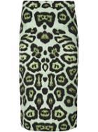 Givenchy Leopard Print Pencil Skirt