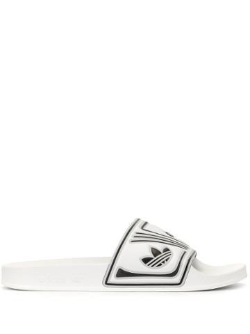 Adidas Logo Pool Slides - White