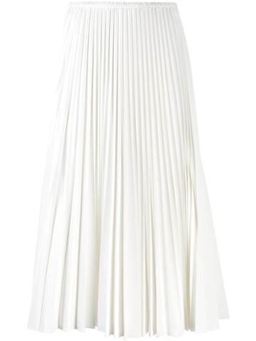 Fendi Pleated Midi Skirt - White