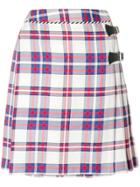 House Of Holland Checked Skirt - White